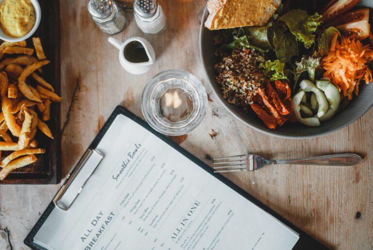 menu 1 - food cost in cloud